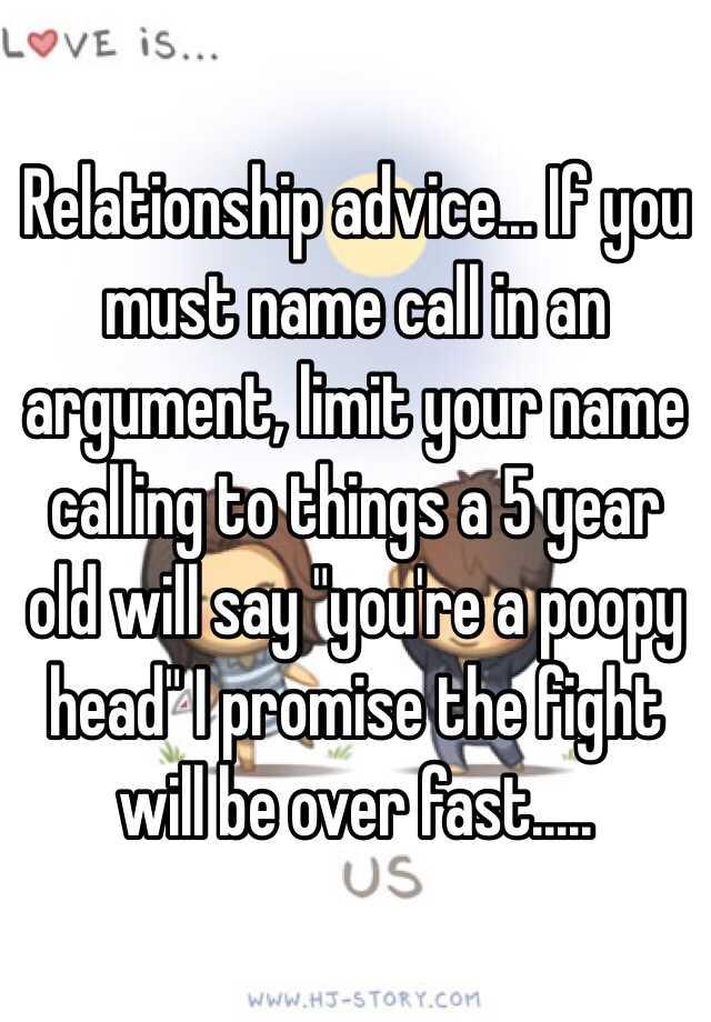 Relationship name calling