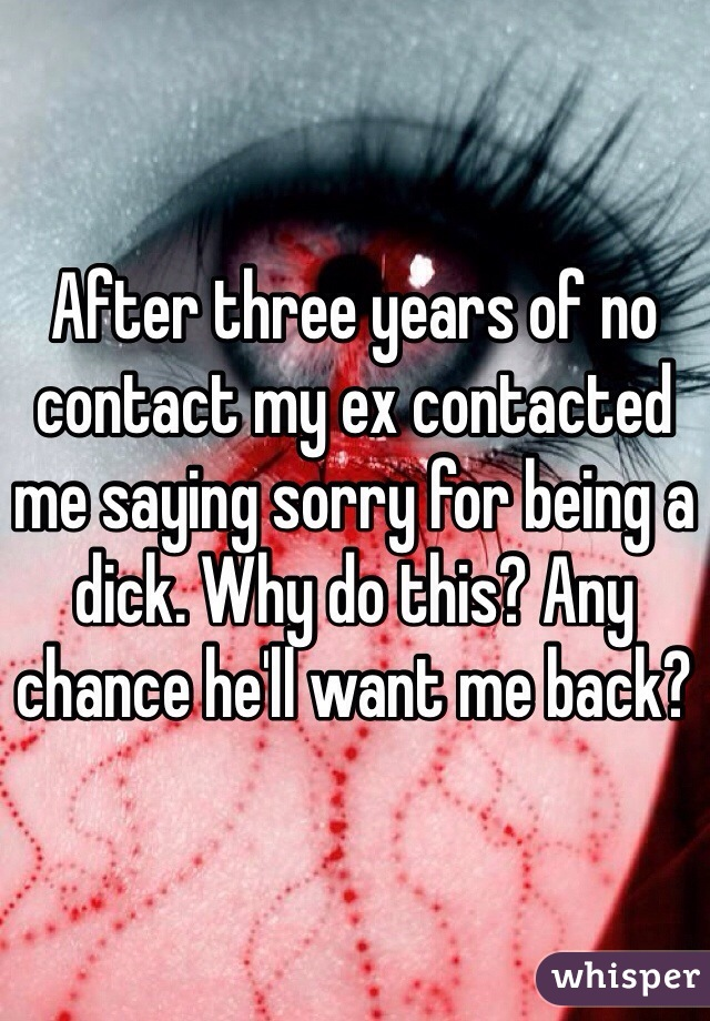 ex contacted me
