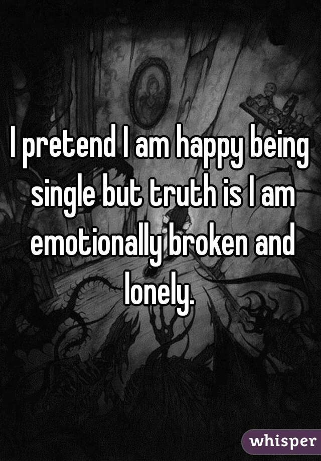 i am happy being single