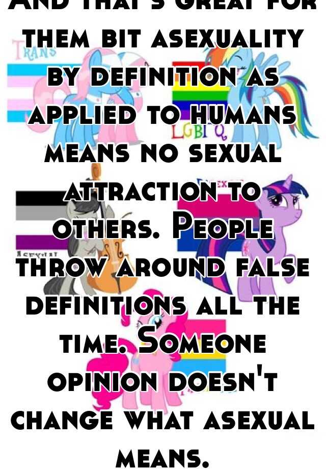 Asexual definition lgbtq