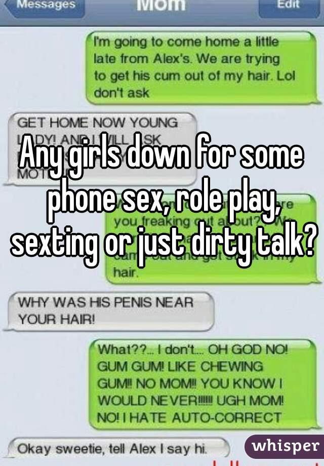Dirty sex talk to girls