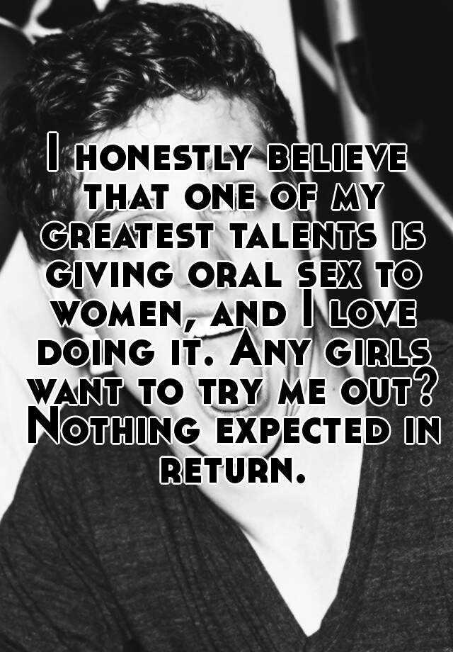 Do women really enjoy giving oral sex