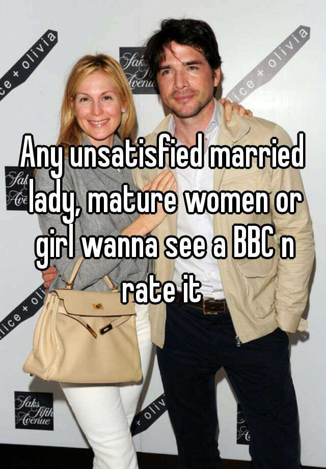 Mature women and bbc