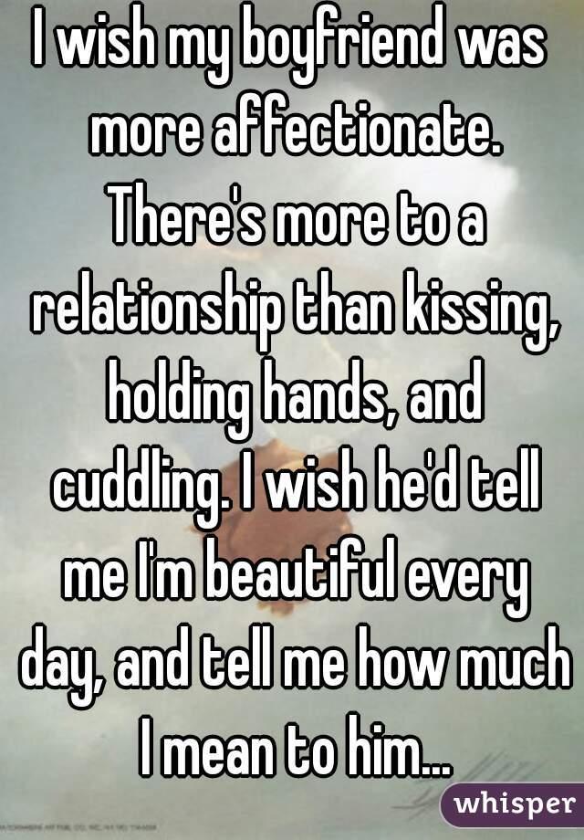 Affectionate boyfriend