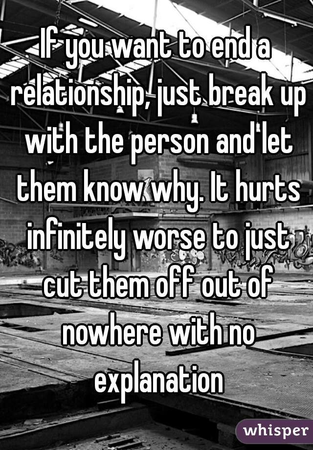 when you end a relationship
