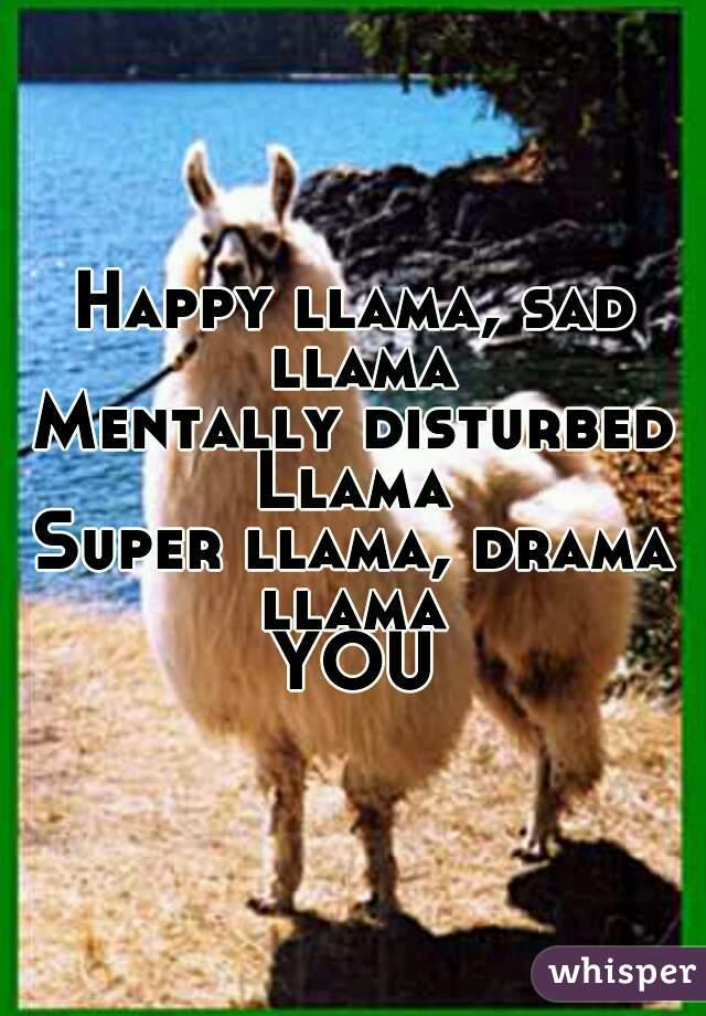 Happy Llama Sad Mentally Disturbed Super Drama YOU