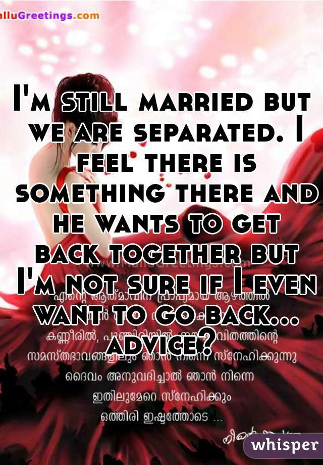 separated how to get back together