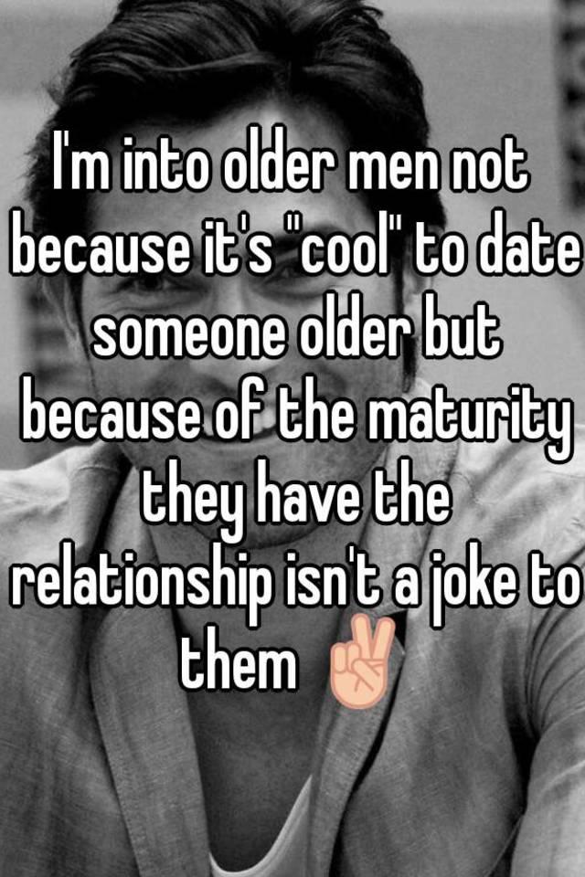 Jokes about dating older men