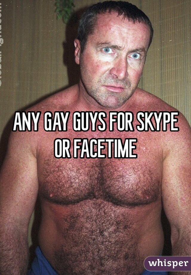 Gay skypes
