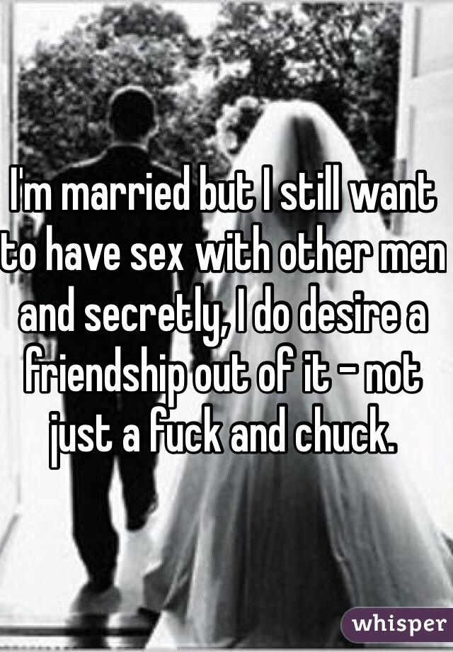 Married but have sex with men