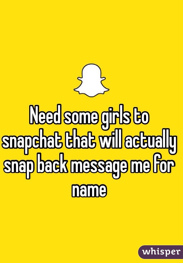 Girls that snapchat back