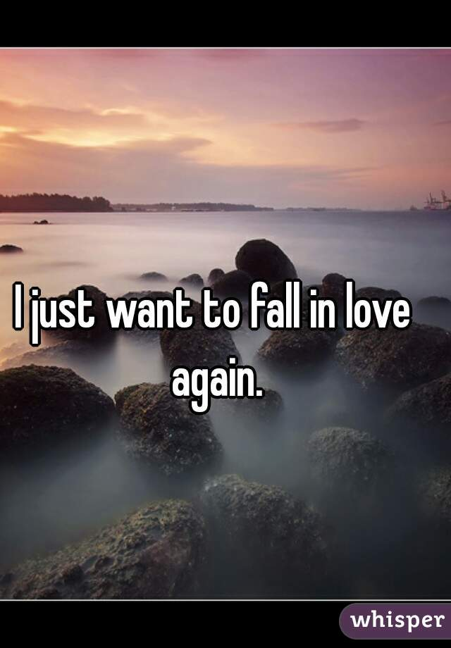 i want to fall in love again
