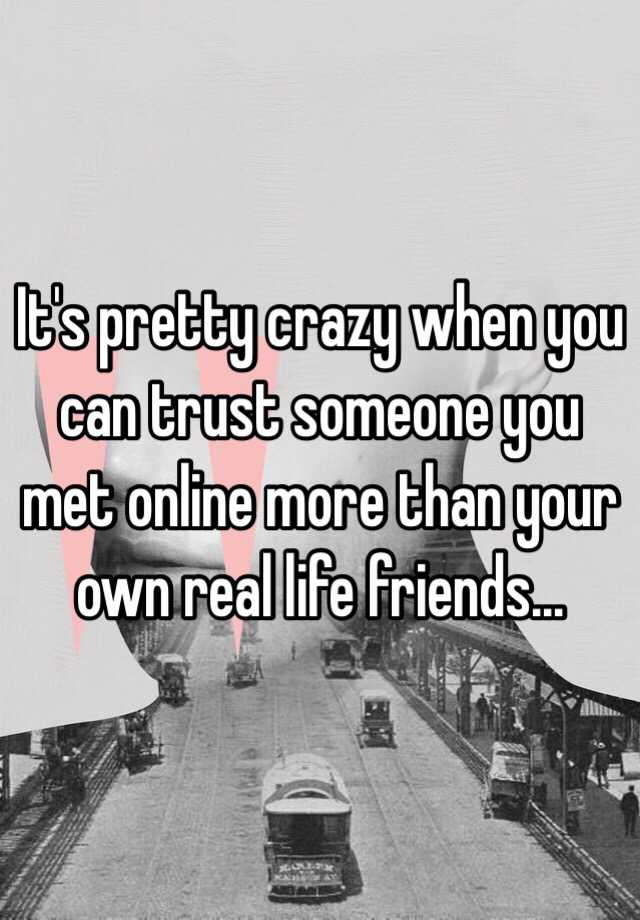 how to trust a guy you met online