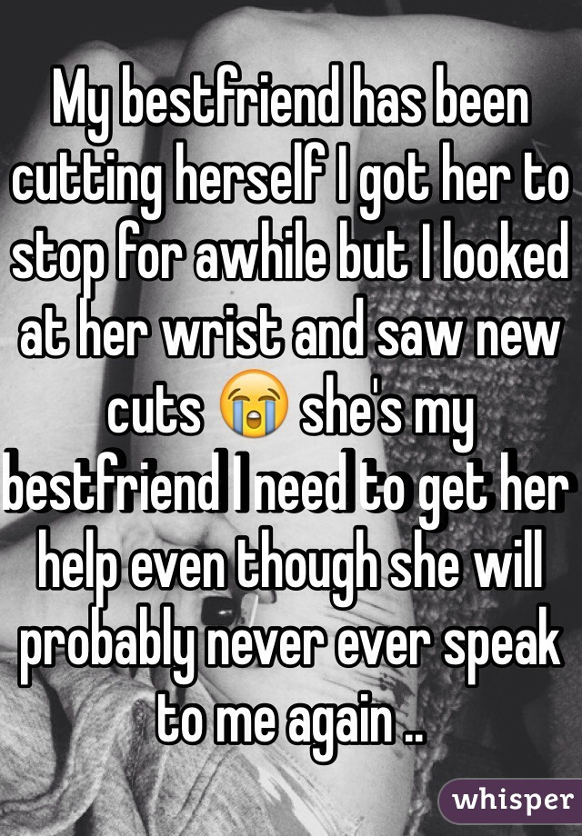 how to stop a girl from cutting herself