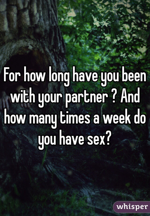 How Many Times A Week Do People Have Sex