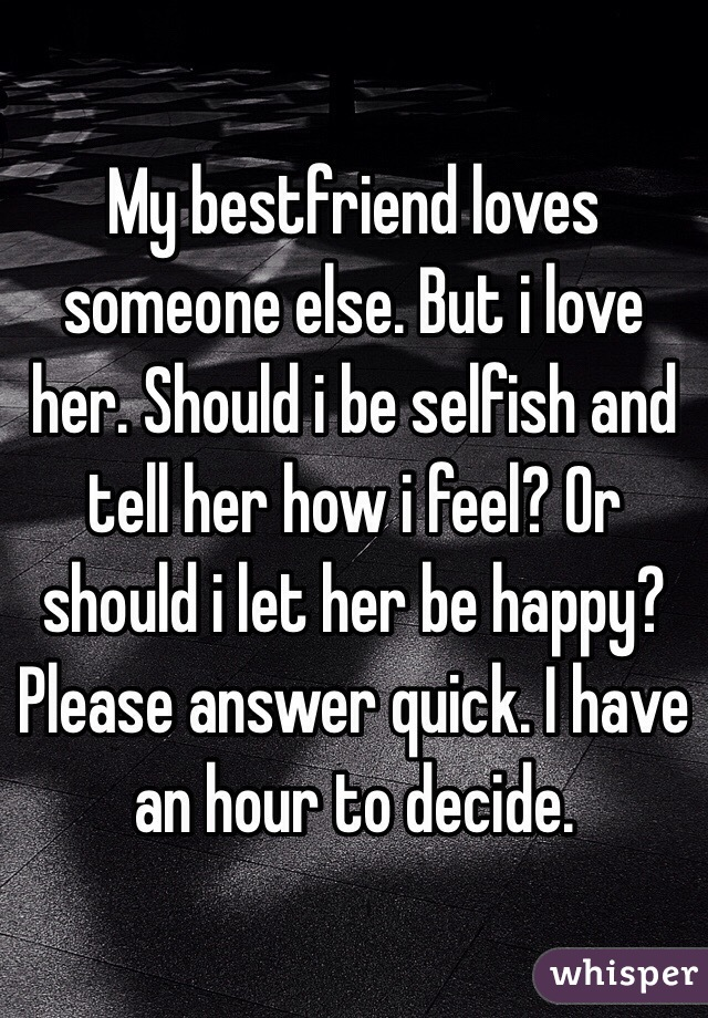 When Should I Tell Her I Love Her