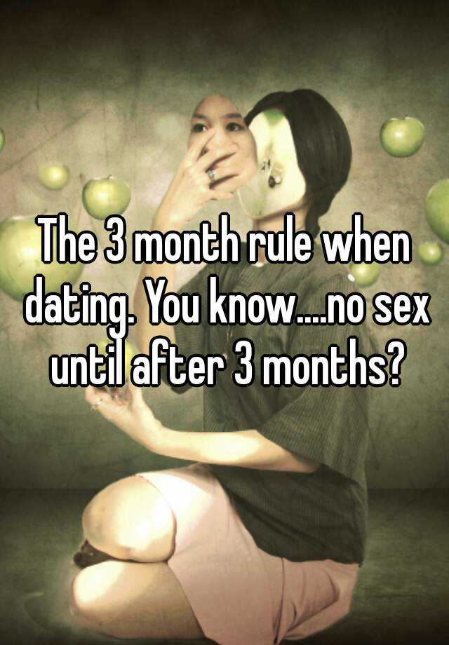 Dating 3 months no sex