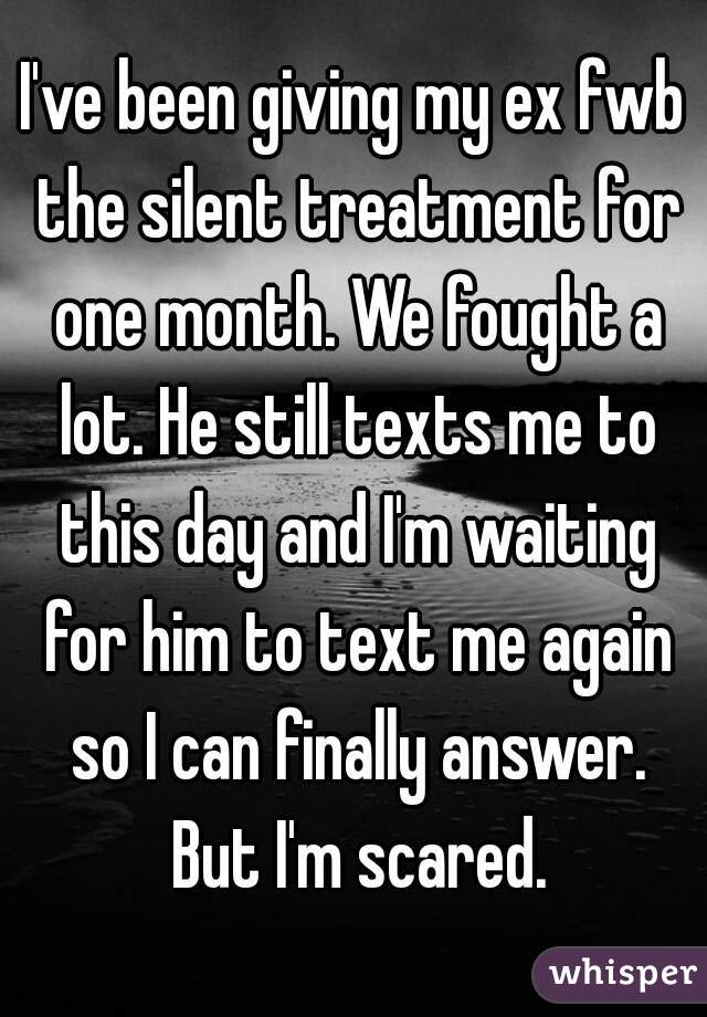 Why the silent treatment works with an ex