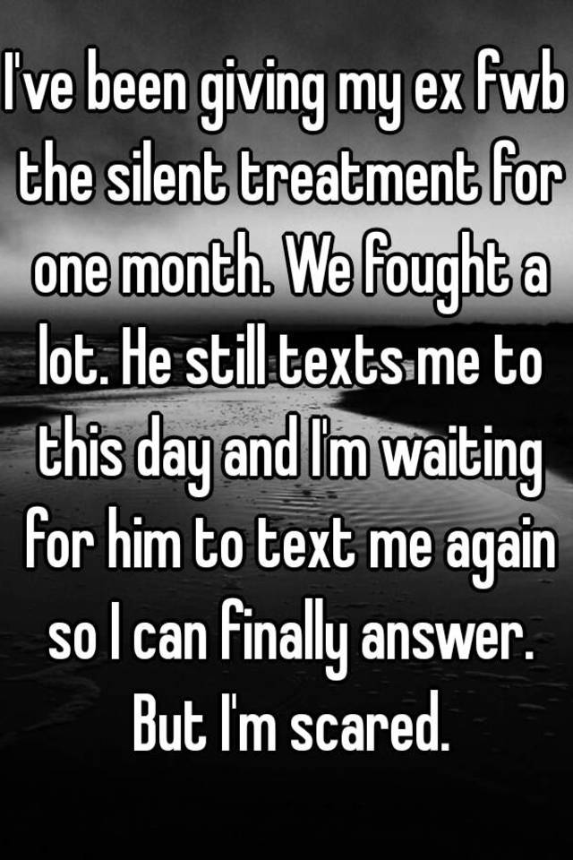 My ex is giving me the silent treatment