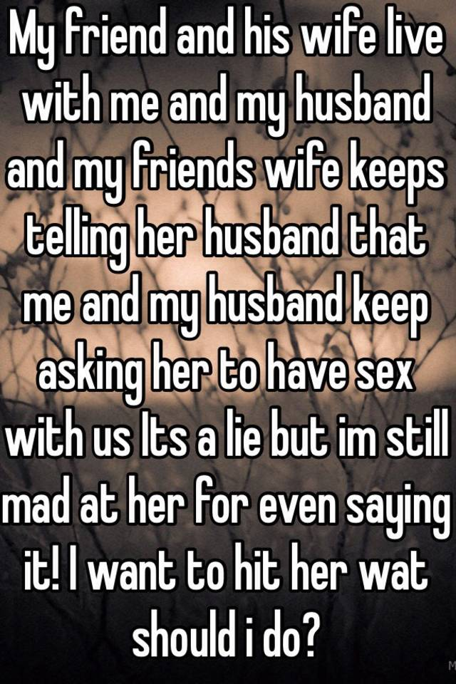 Three-way with my friends wife sex