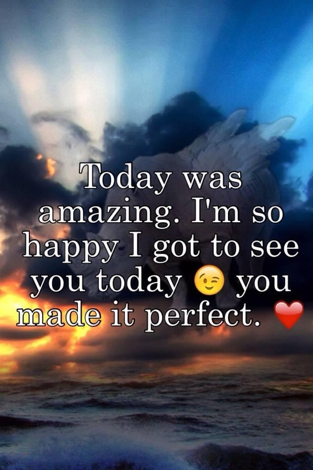 Am so happy today