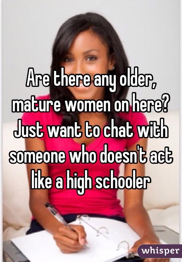Chat older mature