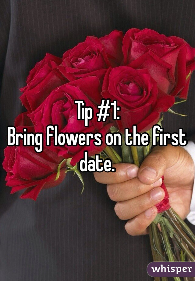 flowers after a first date