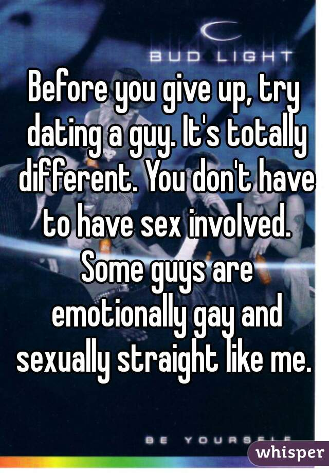 guys who give up on dating