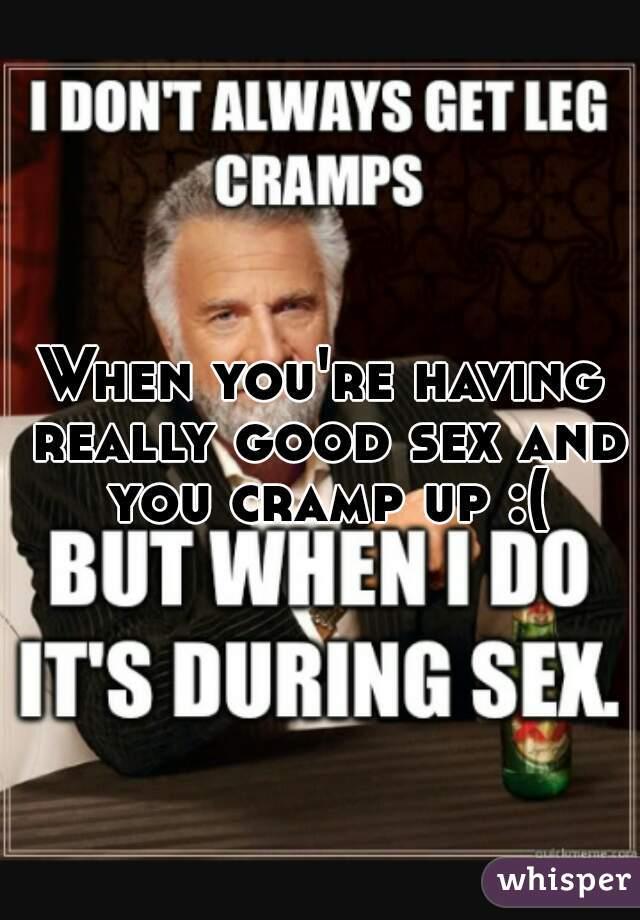 Cramp during leg sex