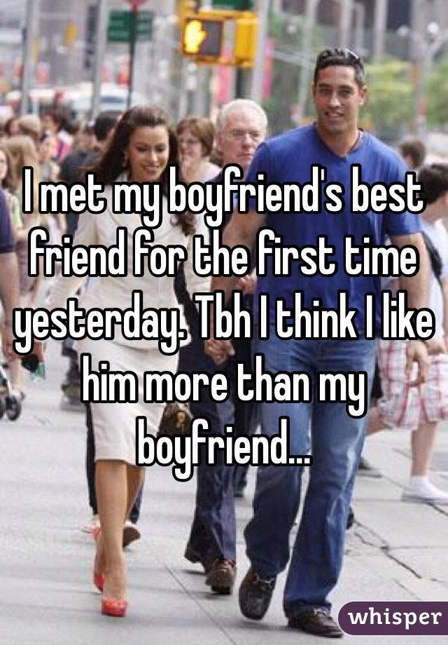 I like my boyfriends friend?