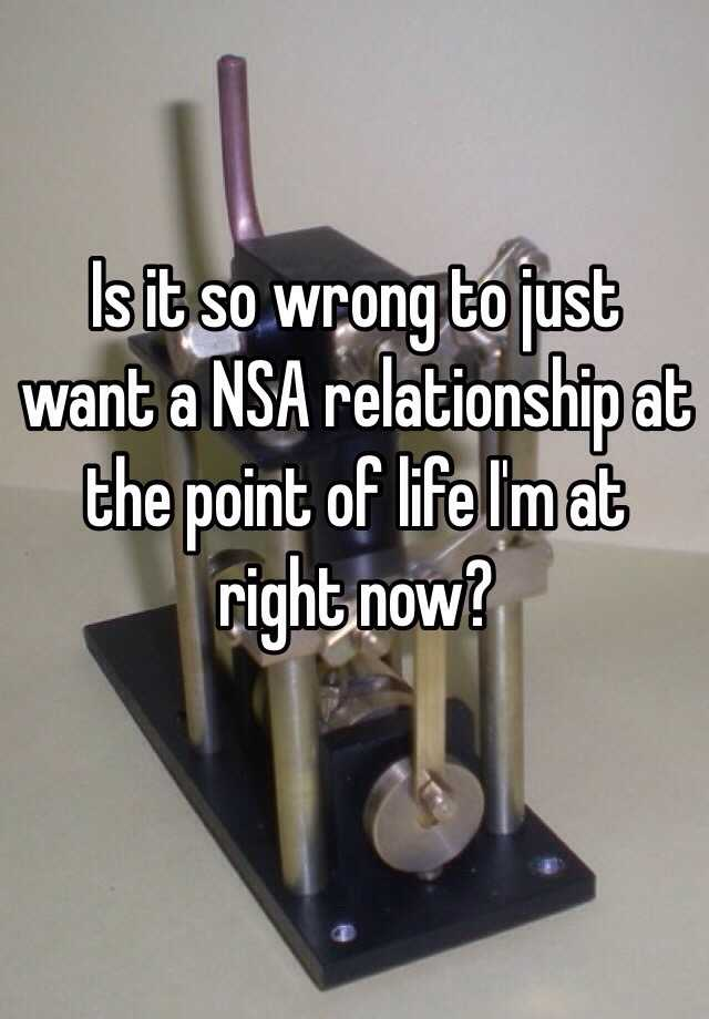 What is a nsa relationship