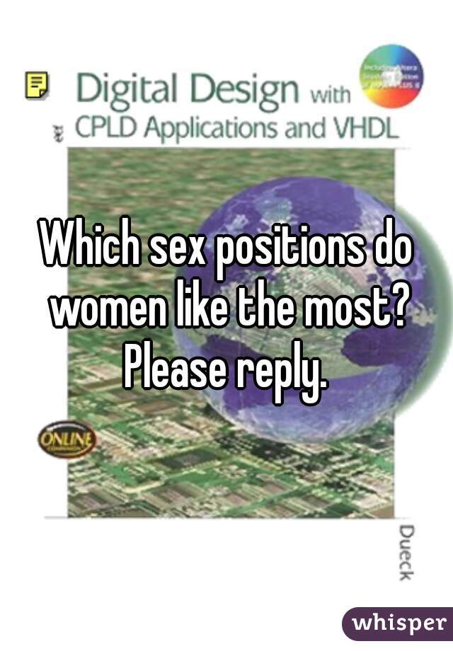Sex positions women like most