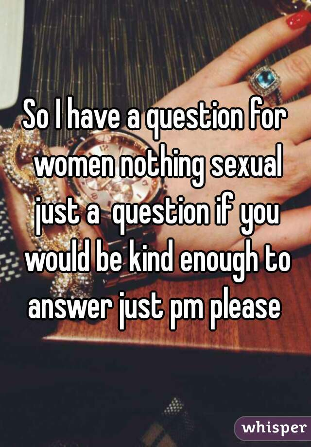 for kvinder Spørgsmål til