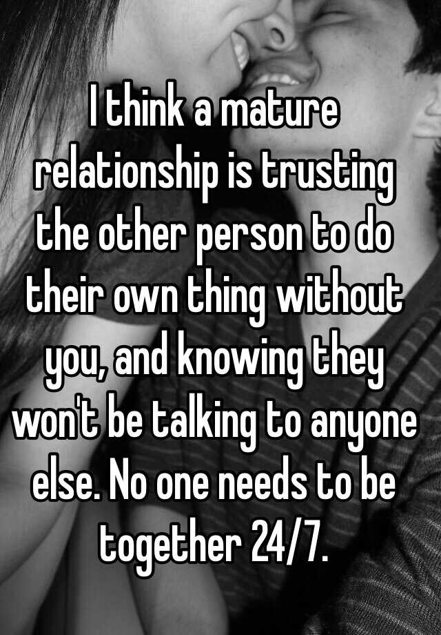 what is a mature relationship
