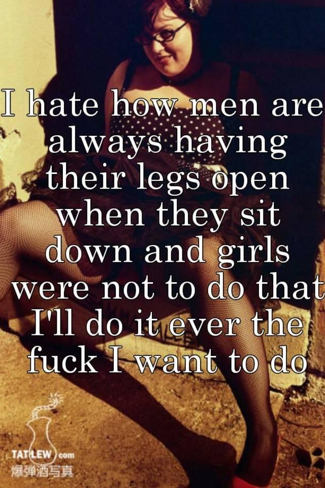 why do girls open their legs