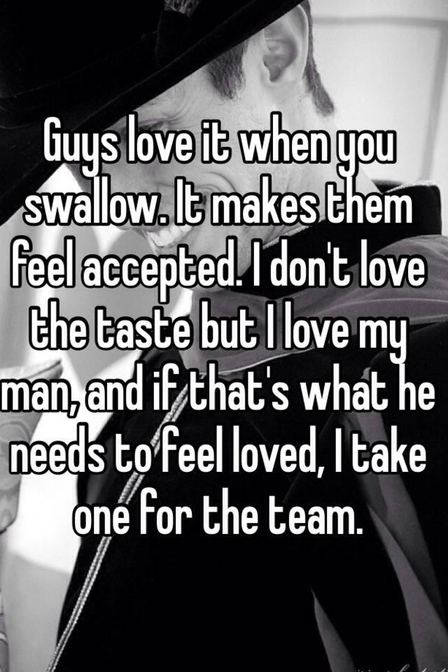 What a man needs to feel loved