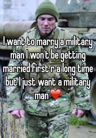 getting married to a military man