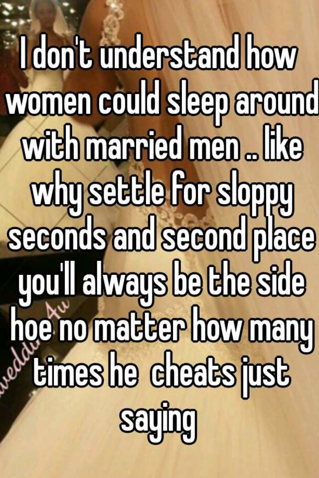 Woman who cheats with a married man