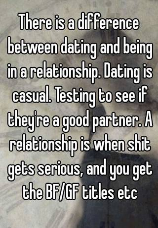 difference between dating and in a relationship