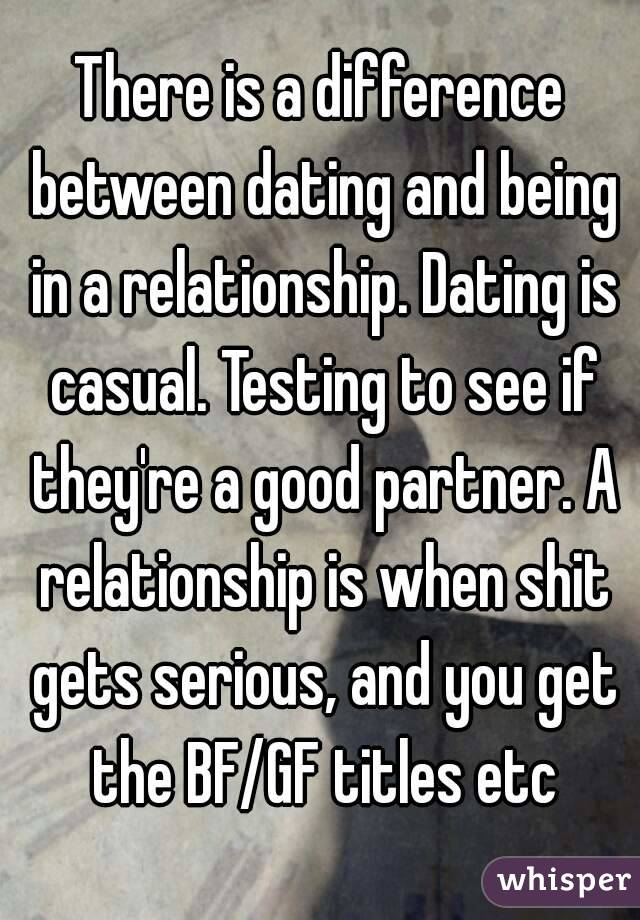 difference between relationship and dating
