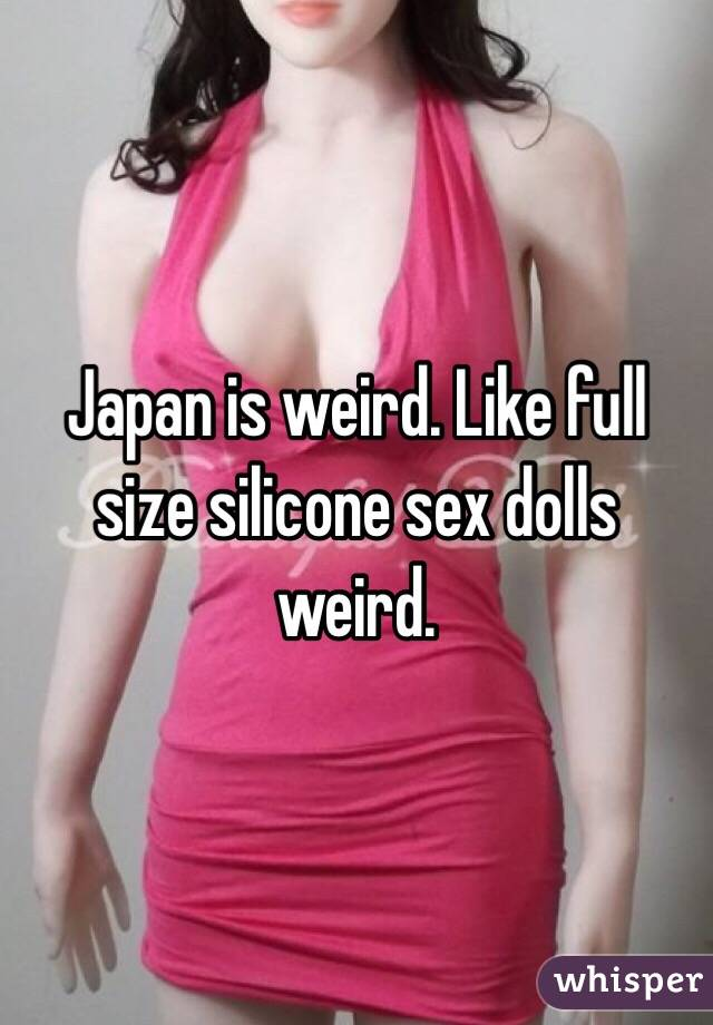 Consider, that Weird sex dolls
