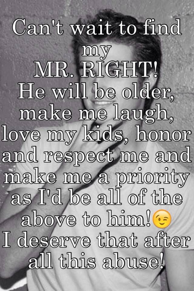how to find my mr right