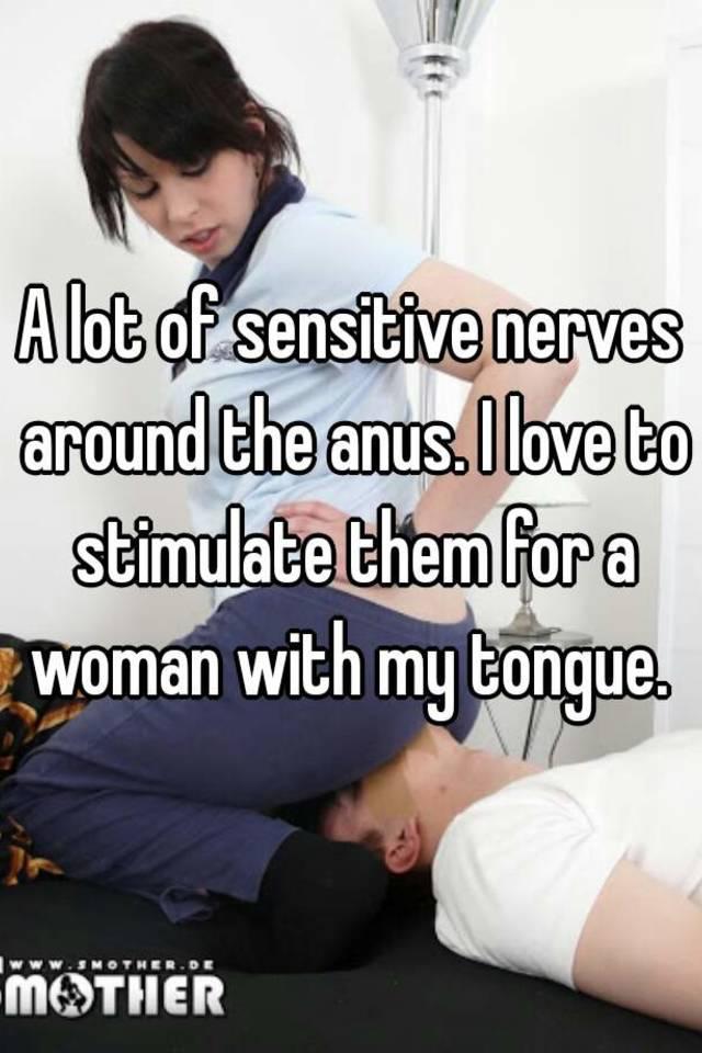 Tongue in the anus