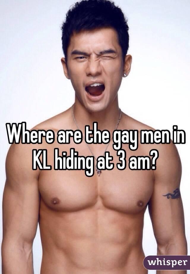 The gay hiding