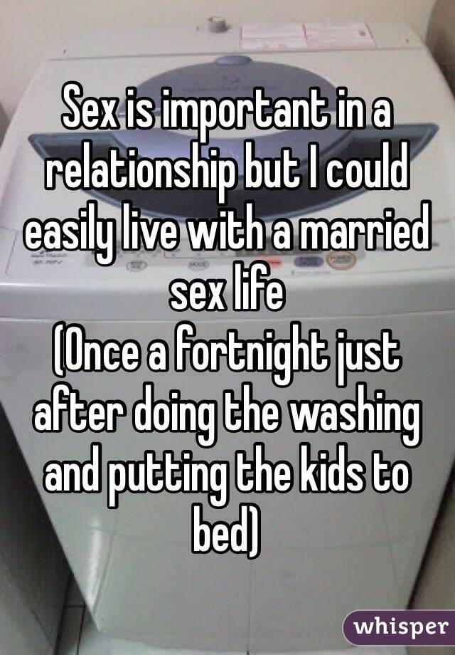 Is sex important in a marriage relationship