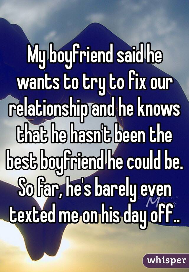 How Can I Fix My Relationship