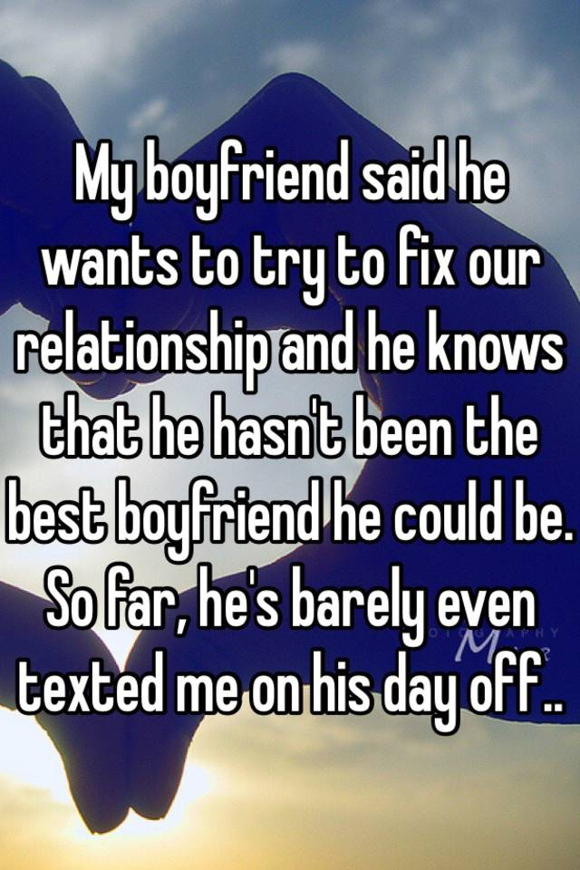 how do we fix our relationship