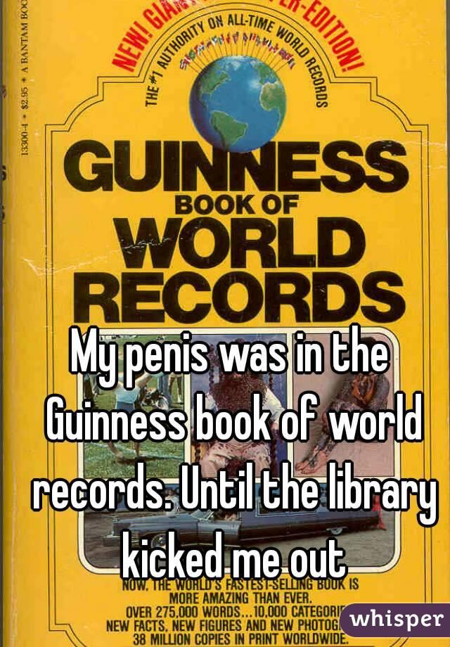 Guiness Book Penis
