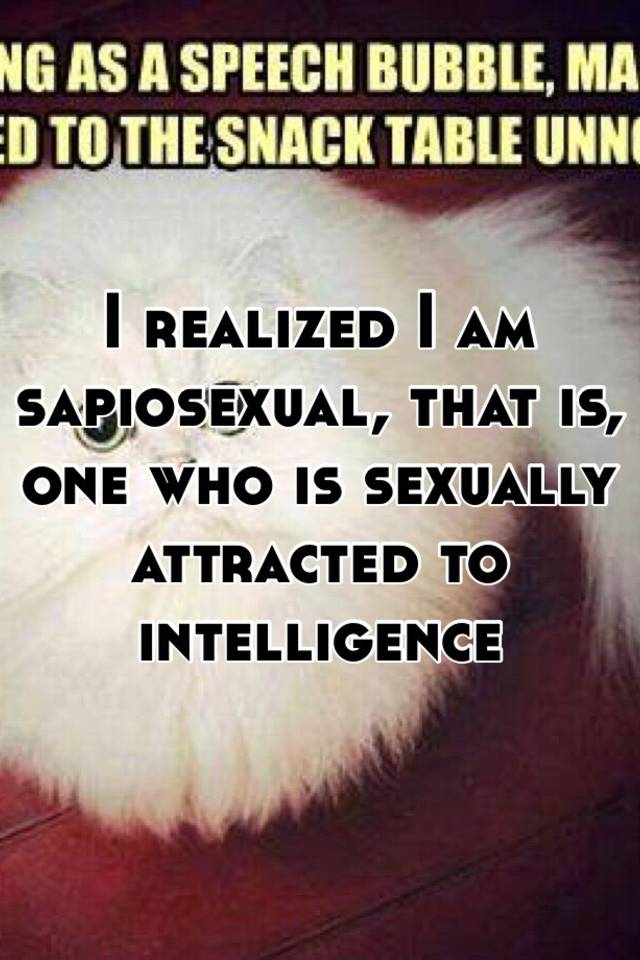 Attracted to intelligence sexually