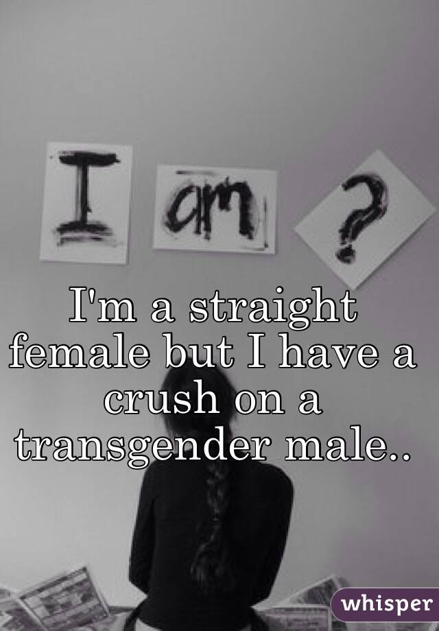 I'm a straight female but I have a crush on a transgender male..